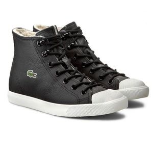 Lacoste Leather Hightops